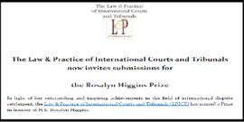 Banner for Rosalyn Higgins Prize Competition