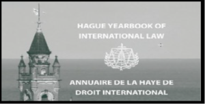 CFP: Hague Yearbook Int'l Law